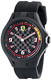 Ferrari Men\'s 0830005 Pit Crew Analog Quartz Black Watch