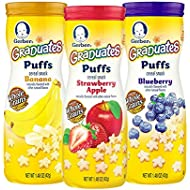 Gerber Graduates Puffs Cereal Snack, Assorted Flavors...