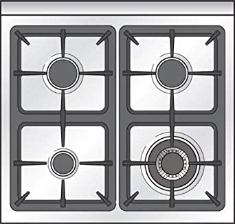 Verona VEFSGG244NSS 24 Pro-Style All Gas Range Oven Convection Stainless Steel