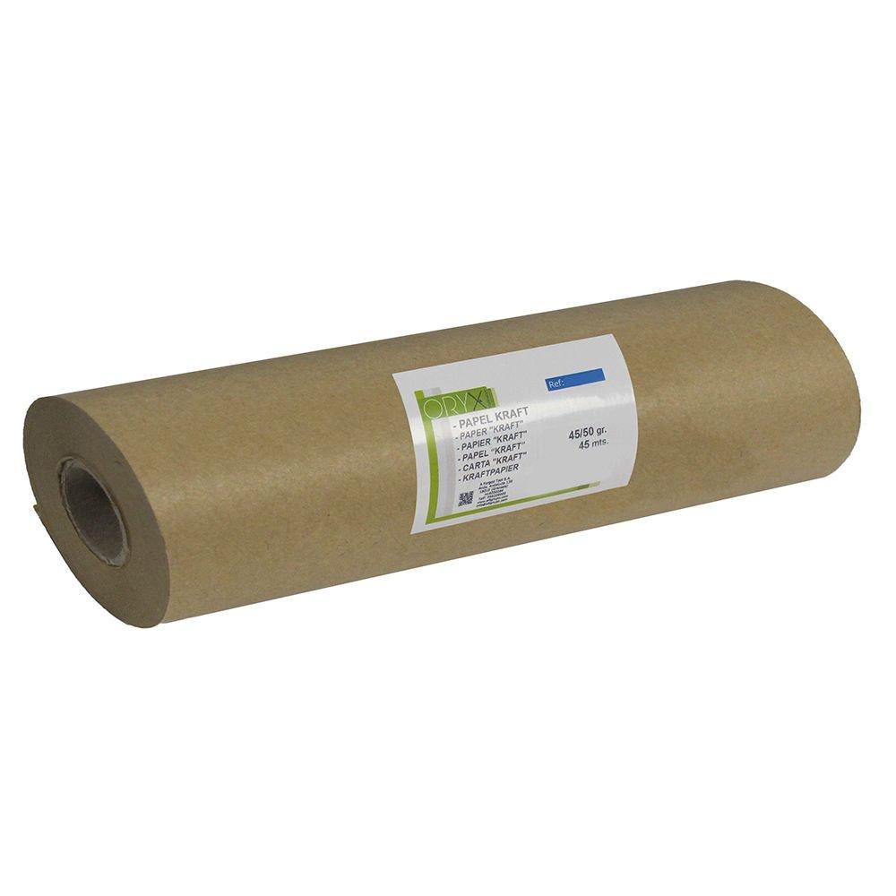 Paper Roll Kraft 45/50 Grams (Roll 30 cm x 45 Meters) Brown. Oryx 14051705