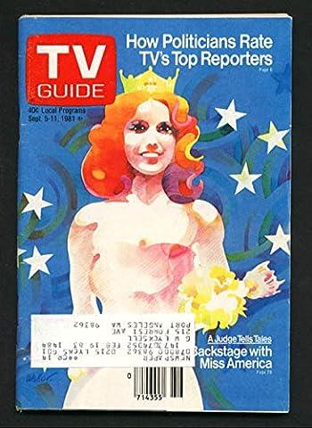 TV Guide September 5 1981- Western Washington State- Miss America (Tv Guide September 1981)