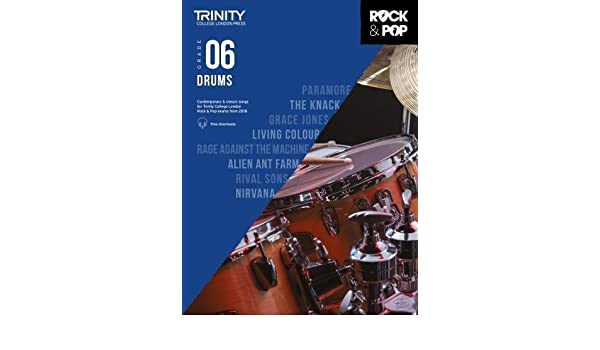 Trinity rock pop 2018 drums grade 6 9780857366443 amazon books fandeluxe Images