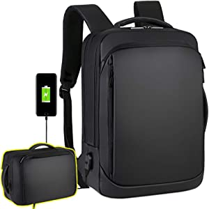 "Laptop Backpack Casual Daypacks 15.6"" Briefcase Convertible Water Resistant Business Travel Rucksack with USB Charging Port Office College School Notebook Computer Laptop Bag Work Backpack Teens Men"