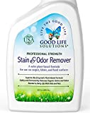 Good Life Solutions 32 oz. The Best Professional Strength Stain and Odor Remover - A Safer Plant-Based Formula Designed For Carpet, Fabric, Upholstery & Hard Surfaces, For Homes With Kids And Pets