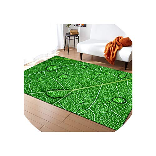 Almighty-shop Home Carpet Leaf Pattern Carpets for Living Room Soft Modern Bedroom Rugs Anti-Slip Tea Table Rectangular Floor Mats,As Picture4,100Cm 150Cm