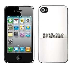 Be Good Phone Accessory // Dura Cáscara cubierta Protectora Caso Carcasa Funda de Protección para Apple Iphone 4 / 4S // Dalmatians Puppies Black White Dog