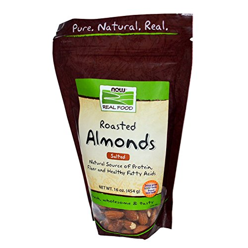 Now Foods, Real Food, Roasted Almonds, with Sea Salt, 16 oz (454 g) - 3PC by NOW Foods