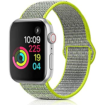 08407a5c7 Sport Loop Band Compatible with Apple Watch Band 38MM Or 42MM Nylon Soft  Breathable Nylon I Watch Replacement Band Sport Loop for Apple Watch Series  3/2/1 ...