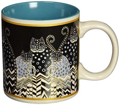 Laurel Burch 117474 Artistic Mug Collection, Polka Dot Gatos, One Size, Multicolor