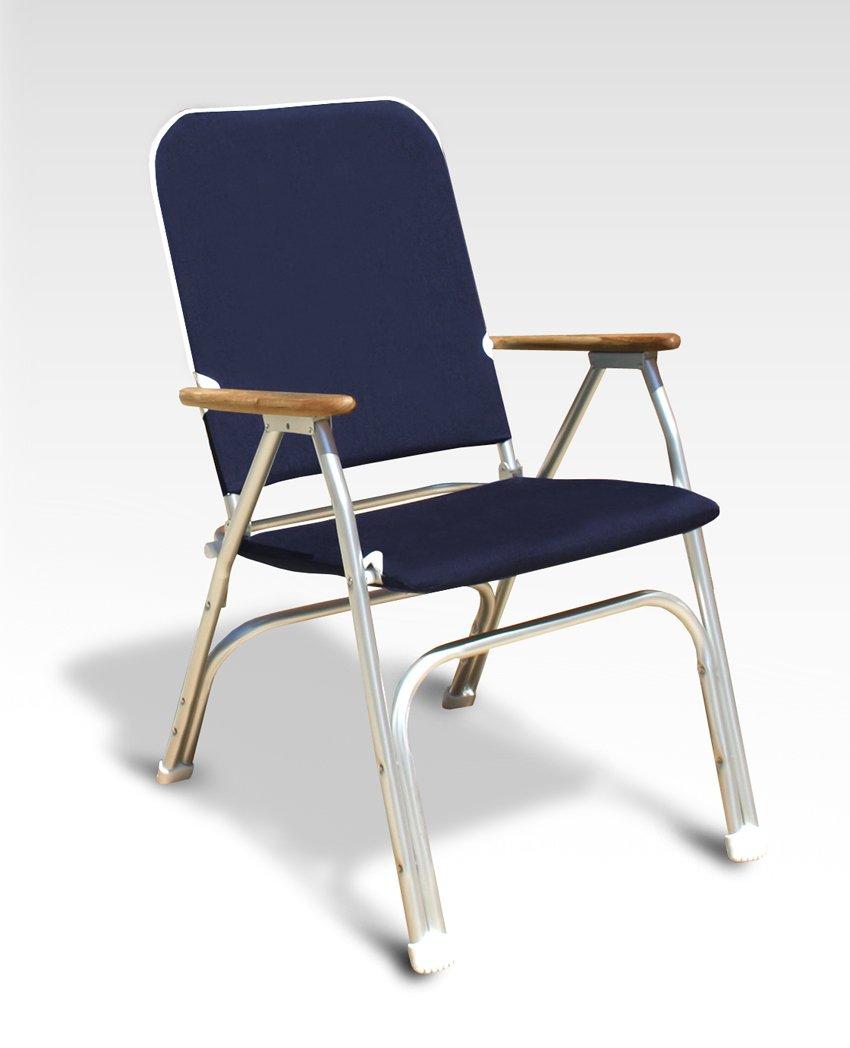 FORMA MARINE Deck Chair, Boat Chair, Folding, Padded, Anodized, Aluminium, Navy Blue, Model VENUS V100NB by FORMA MARINE