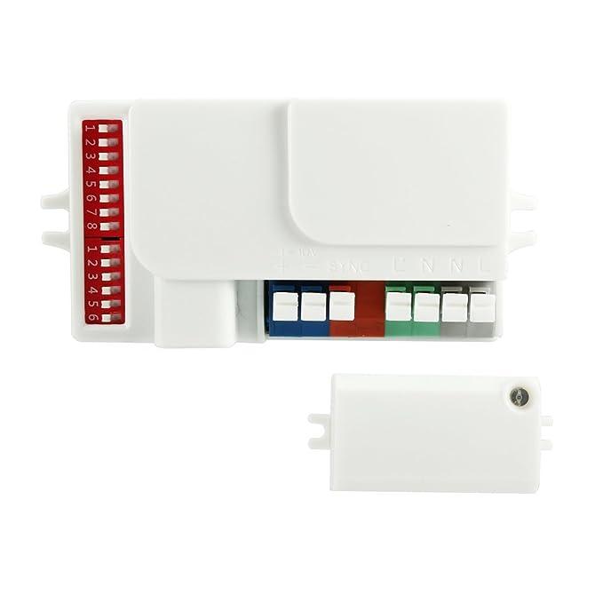 Amazon.com: eDealMax Merrytek autorizado MC605V / D AC 120-277V de atenuación automática del Sensor de movimiento de microondas de Largo alcance: Car ...