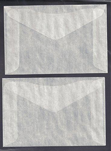 One Hundred (100) #4 Glassine Envelopes — 3 1/4 x 4 7/8 Model: