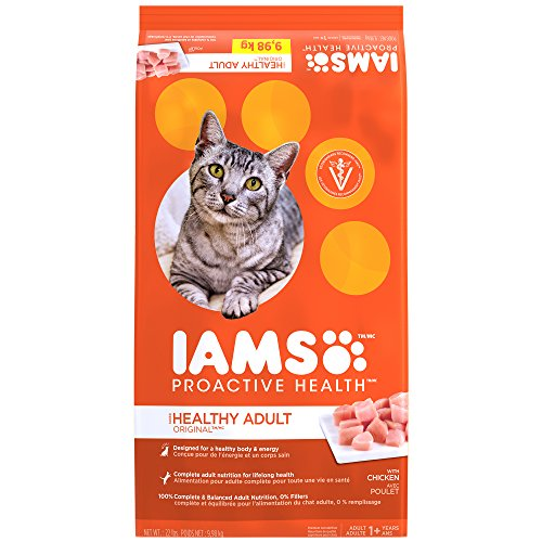 Iams PROACTIVE HEALTH Healthy Adult Dry Cat Food Chicken, 22 lb. Bag