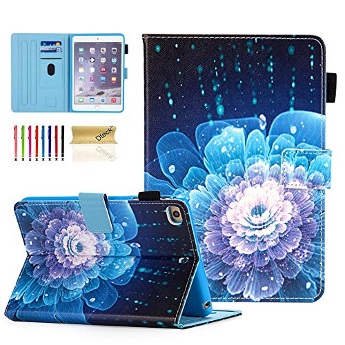 iPad Mini Case, Dteck Slim Fit Smart Premium PU Leather Multiple Viewing Folio Stand Wallet Cover with Auto Wake/Sleep for Apple iPad Mini 2/Mini 3/Mini 4/Mini 5, Sparkly Floral