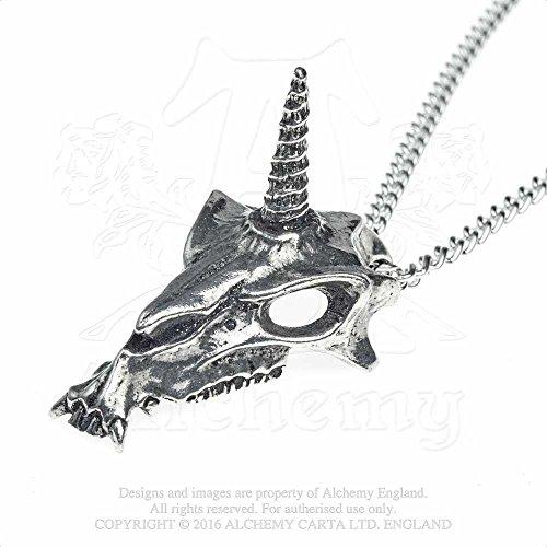 Uniskull Pendant by Alchemy Gothic, England (Gothic Unicorn)