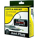 Woodland Scenics Just Plug: Lights & Hub Set w/Dimmer Controls: Warm White Stick-On LED Lights w/24 Cable (2)
