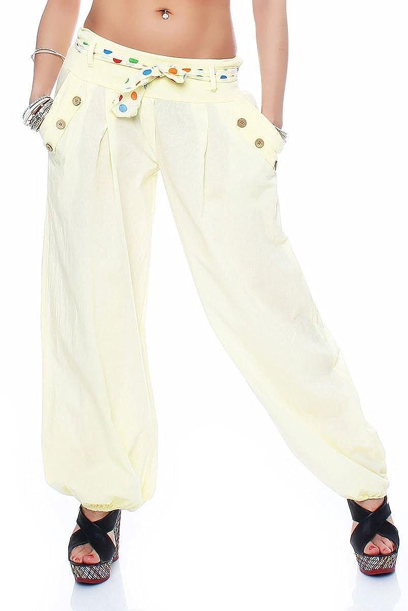 Malito Bombacho clásico Design Boyfriend Aladin Harem Pantalón Sudadera Baggy Yoga 3417 Mujer Talla Única
