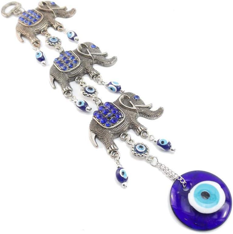 Blue Evil Eye Hanging Decoration Amulet Wall Hanging Home Decor Pendant (ELANT)