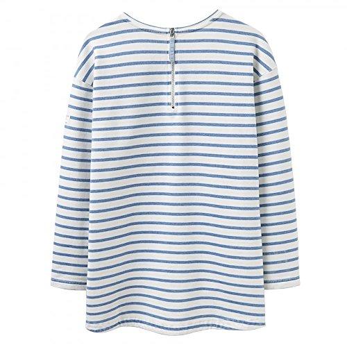 Joules - Sudadera con capucha - para mujer Stripe Light Indigo