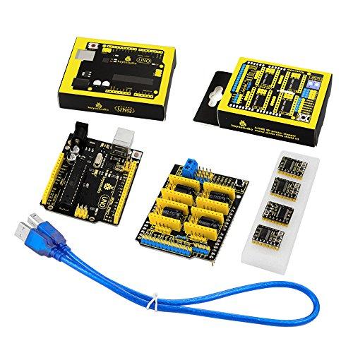 Pleasing Keyestudio Cnc Diy Kit Grbl Cnc Shield V3 4Pcs Drv8825 Stepper Motor Wiring Cloud Hisonuggs Outletorg