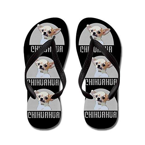 Cafepress Chihuahua Dog Black - Tongs, Sandales Rigolotes, Sandales De Plage Noir