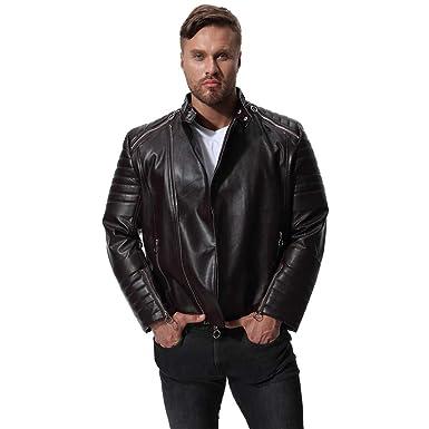 Veste Homme Similicuir Blouson Missmao Jacket Biker Cuir En wq1zz5aZ