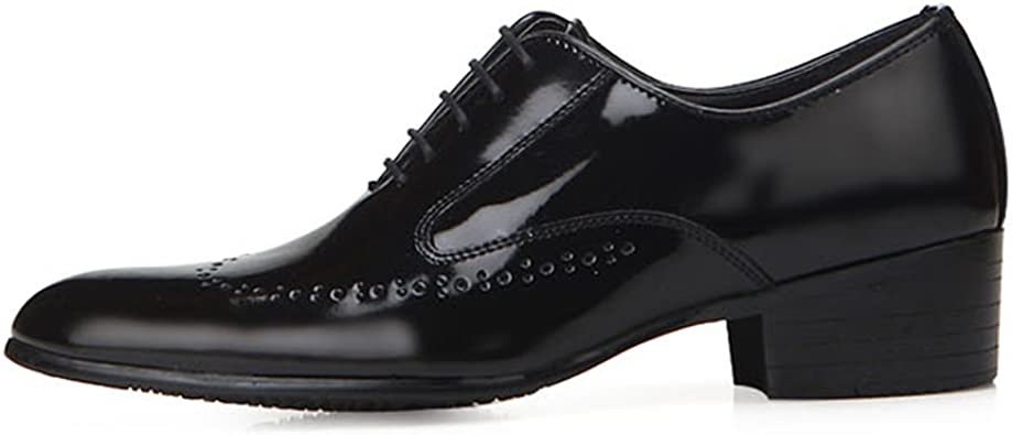 amazon men's black leather shoes