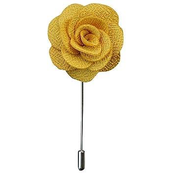 Traje de ramillete, broche de camellia estilo aguja larga ...