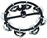 Meinl Percussion HTHH1BK Headliner Series Mountable Hi Hat Tambourine with Steel Jingles, Black (VIDEO)