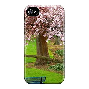 Tpu Fashionable Design Cherry Tree Evergreen Park Washington Rugged Case Cover For Iphone 4/4s New