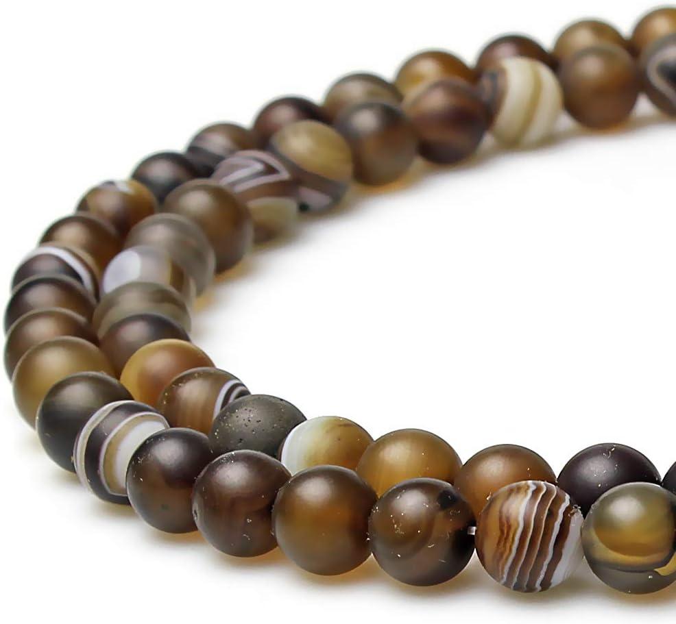 JarTc Natural Round Aquamarine Gemstone Spacer Loose Beads Spacer Beads for DIY Jewelry Making Strand 15