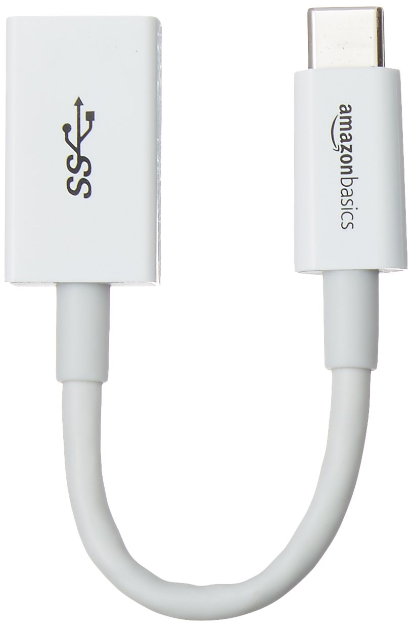 AmazonBasics USB Type-C to USB 3.1 Gen1 Female Adapter - White, 10-Pack by AmazonBasics