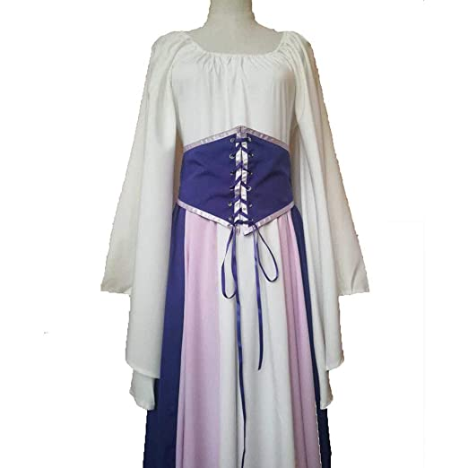 CAGYMJ Dress Party Mujer Vestido,Cosplay Medieval Retro Manga ...