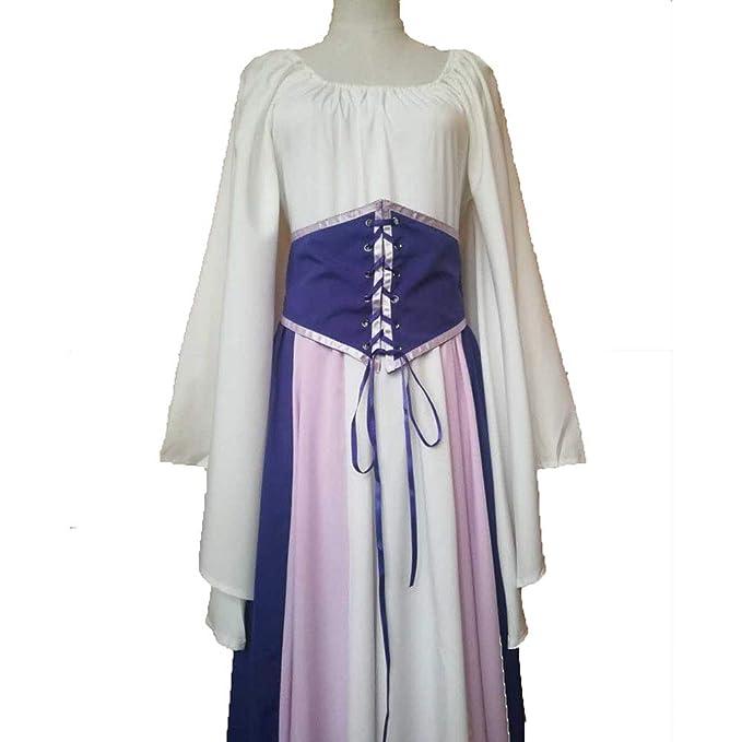 CAGYMJ Dress Party Mujer Vestido,Cosplay Medieval Retro Manga ...