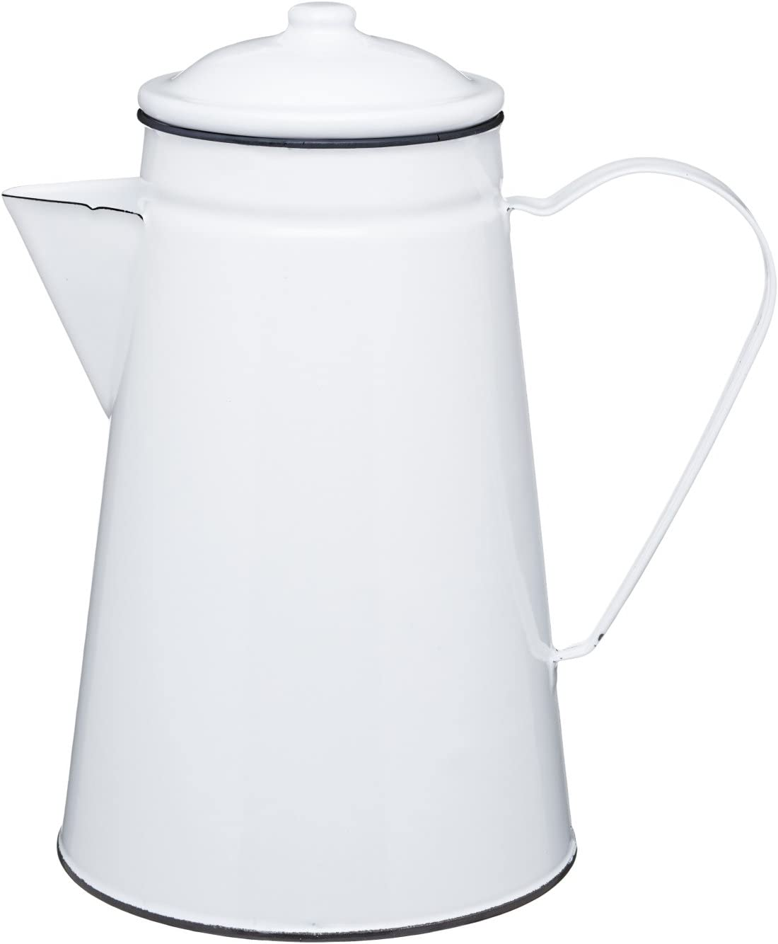 Kitchen Craft Living Nostalgia Jug Cafetera/Jarra/Jarrón de Esmalte, Blanco, 19.5 x 15.5 x 22.5 cm: Amazon.es: Hogar