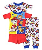 Kyпить Paw Patrol Little Boys Toddler Charcter Print 4-Piece Snug Fit Cotton Pajama Set, 4T на Amazon.com