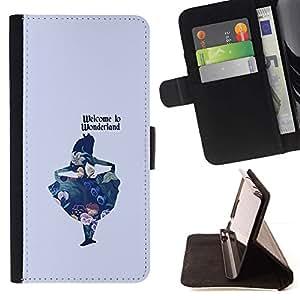 Momo Phone Case / Flip Funda de Cuero Case Cover - Azul Niños Fairytale - Samsung Galaxy S5 Mini, SM-G800