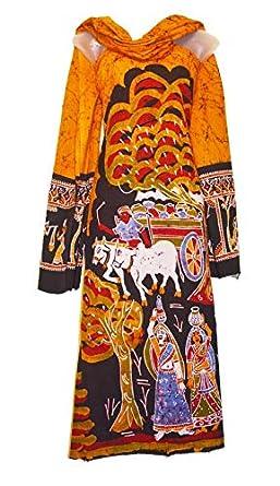 738d73e7bb Indicraftshop Unstitched Cotton Batik Salwar Suit Material: Amazon ...
