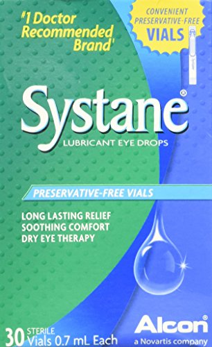 SYSTANE Long Lasting Lubricant Eye Drops Vials Eye Drops, 30 Count, 0.7-mL Each (Preservative Vials Free)