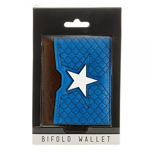 Captain America Suit Up Mixed Material Bi-Fold Gift Boxed Wallet