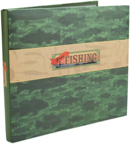 (Karen Foster Design Gone Fishing Themed Scrapbook Album with Page Protectors)