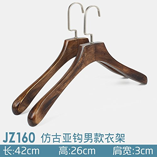 U-emember Home Suits Non-Slip Wooden Coat Hangers Wooden Pol