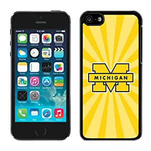 Beautiful And Popular Designed With Ncaa Big Ten Conference Football Michigan Wolverines 22 Protective Cell Phone Hardshell Cover Case For iPhone 5C Phone Case White