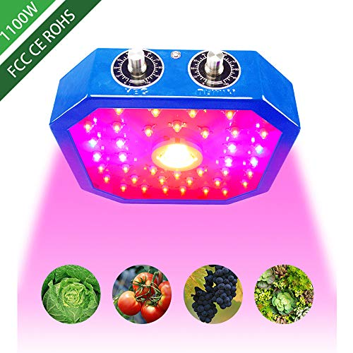 eovmosa LED Grow Light for Indoor Plants,Adjustable Full Spectrum Plant Light Growing Lamps,COB LED 1100W with Veg&Bloom Switch, Grow Veg and Flower Light Indoor for Greenhouse Basement Planting