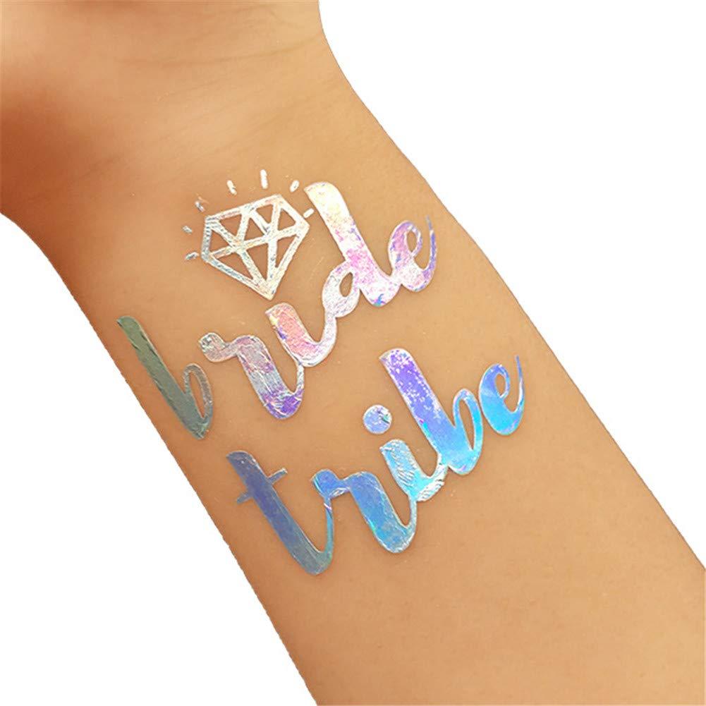 JoyFan - Tatuajes temporales para Novia, 10 Unidades, Color ...