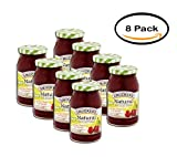PACK OF 8 - Smucker's Natural Red Tart Cherry Fruit Spread, 17.25 oz