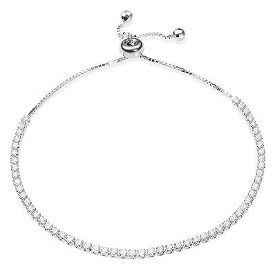 Tinysand charm pulseras mujer geometria circonita cubica 925 plata de ley