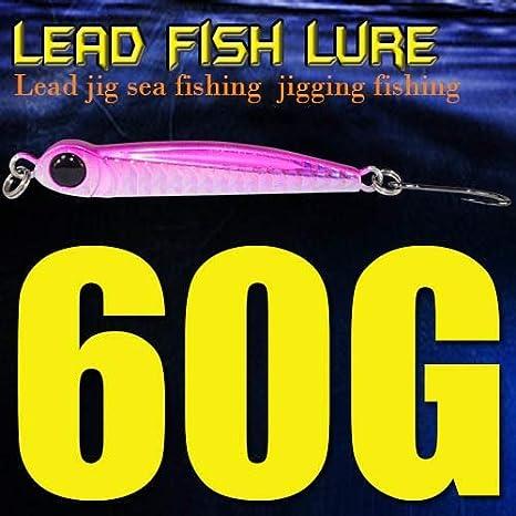 76mm Lead Fishing Lures Lead Fish Hard Baits Metal Jigs With Single Hook