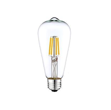 Dc 12 Volt Warm White 3000k 6 Watt Led Filament St64 Light Bulb E26