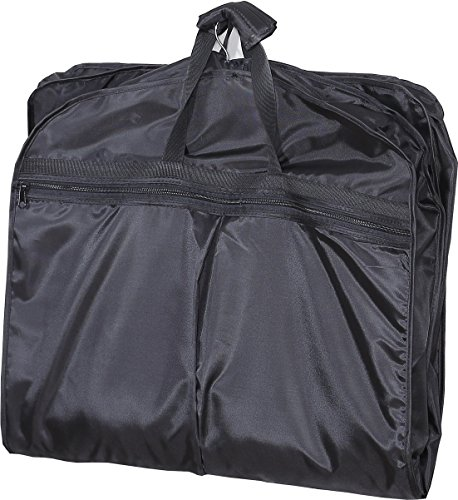 Buy cheap mybestfurn waterproof light weight carry garment bag foldable travel suit with shoe 40x22x3 black